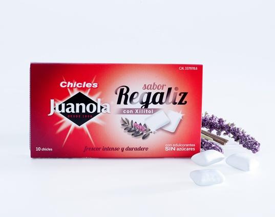 Chicles Juanola Sabor Regaliz con Xilitol